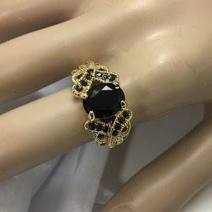 Jewelry - Black Stone Gold Tone Ring